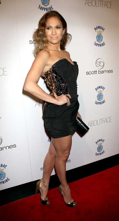 Jennifer Lopez Sizzles in Louis Vuitton Black Mini Dress ...