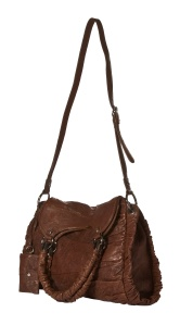 Rafe Ruched Chocolate handbag